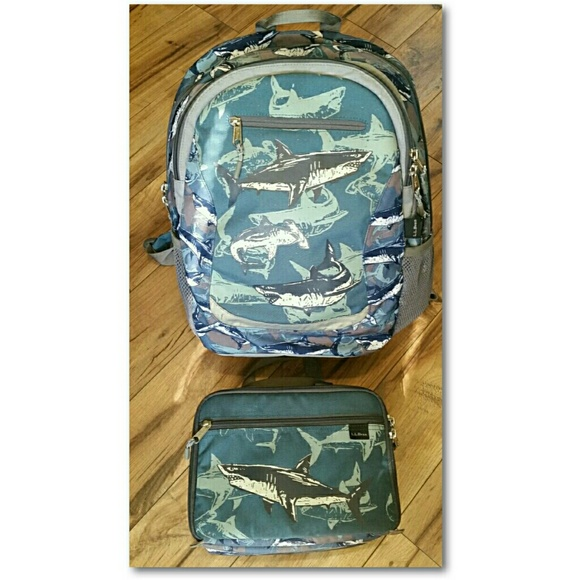 Amazing L L Bean Backpack Lunch Box Set Blue Shark Gmtry Best Dining Table And Chair Ideas Images Gmtryco